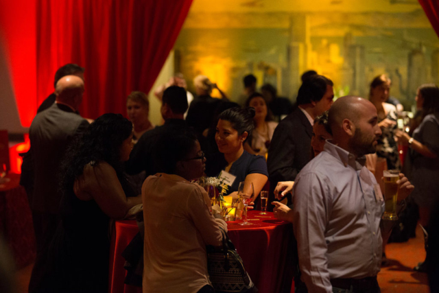 social soiree at the merchants exchange club
